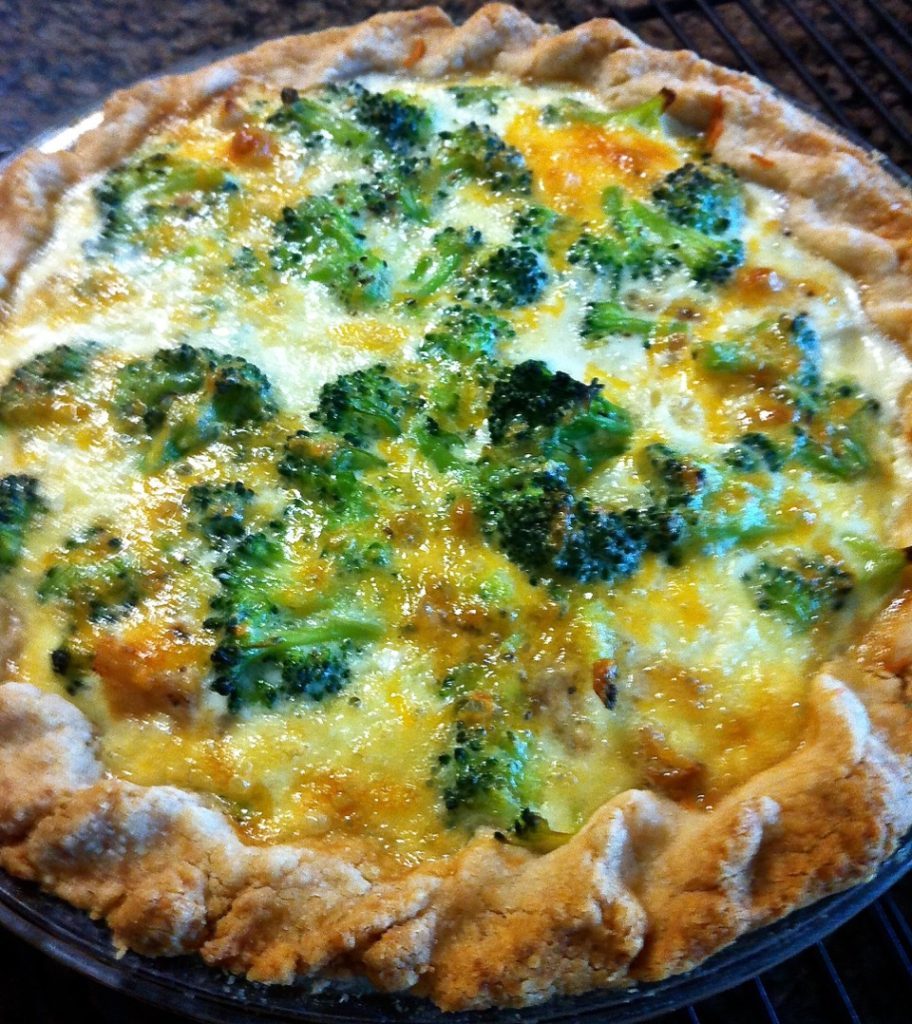 Broccoli & Cheese Quiche